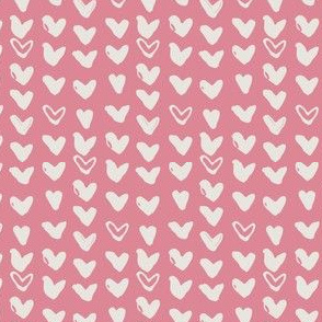 Scribbled Hearts on Pink