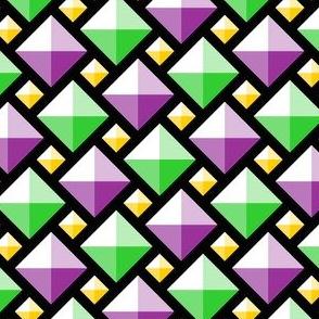 00920576 : 2:1 diamond gems : mardi gras
