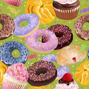 Donuts Cupcakes Candy