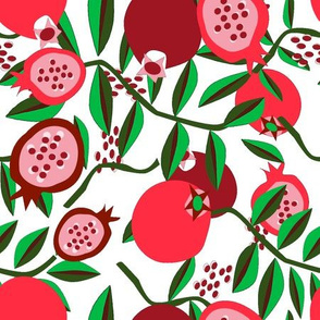 pomegranate red white