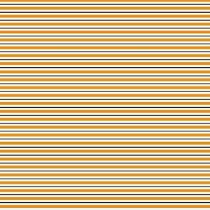 Horizontal Stripes, Orange, Black