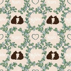 Mistletoe Kisses Brown Bears by Artfulfreddy