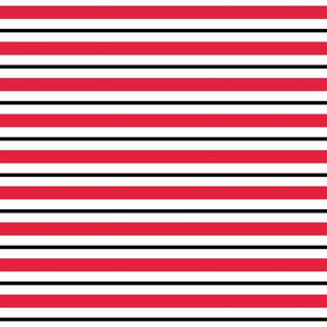 Large Horizontal Stripes in Red and Black