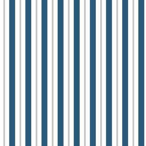Blue and White Vertical Stripes