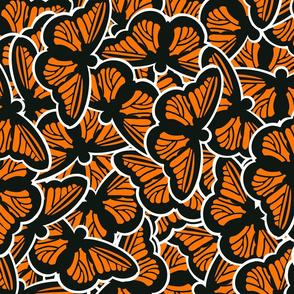 Monarch Butterfly Pile