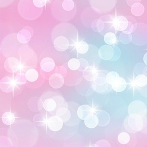 Magical Bokeh and Sparkles Pattern in Mermaid Colors