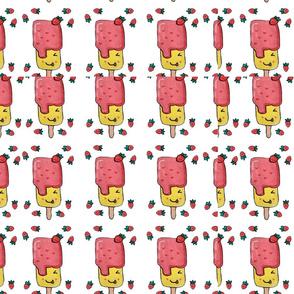 Strawberry Ice Cream Pattern