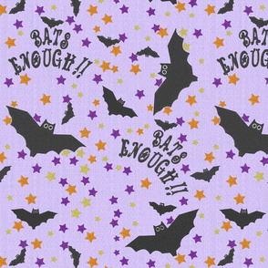 Bats Enough! Halloween embroidery on textured lilac
