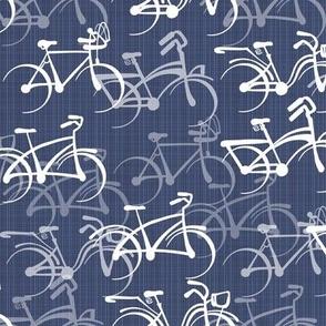 Biking | Warm Blue Faux Texture | Standard Size