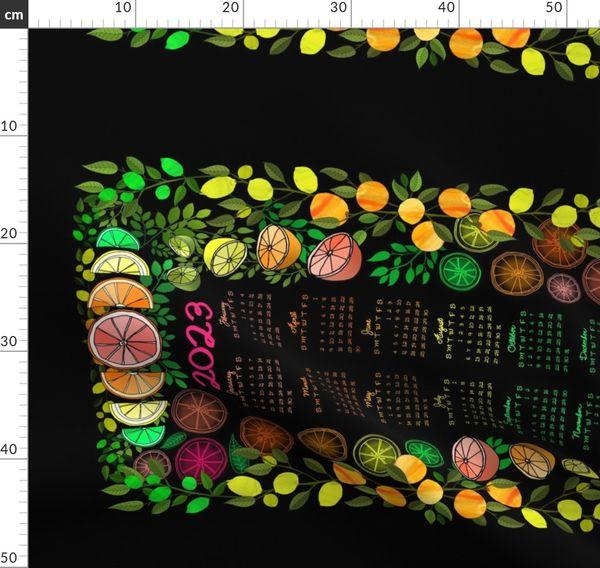 Spoonflower Tea Towel 2020 Calendar Wishing You A Snug Year Linen Cotton