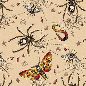 creepy bugs tattoos