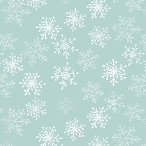 Frosty snowflakes - blue
