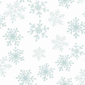 Frosty snowflakes - white