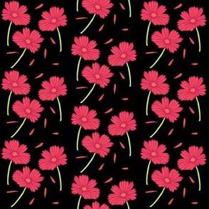 Dark Florals- Pink
