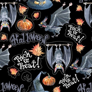 Hallowen`s bat&Hat