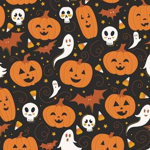 Pumpkin Party on Black