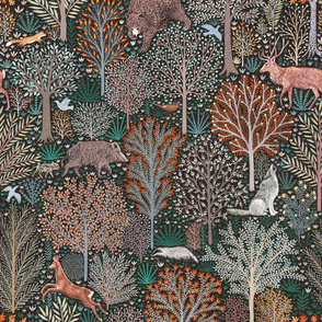 Forest animals large scale