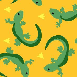 Gecko Gang in my Bathroom