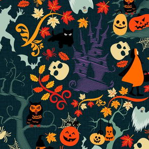Halloween in the Woods- Large Scale