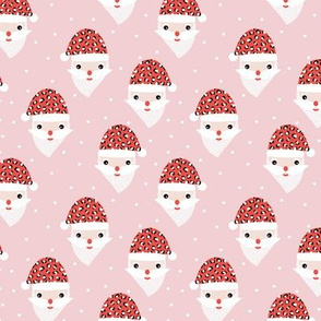 Santa claus and leopard friend animals skin  Christmas panther trend pink red hat SMALL