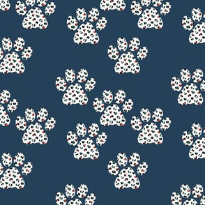 Little winter leopard panther spots animal skin dog paws trend design peach