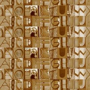sepia alphabet