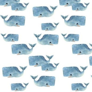 Whale Pod in Blue - Small Size