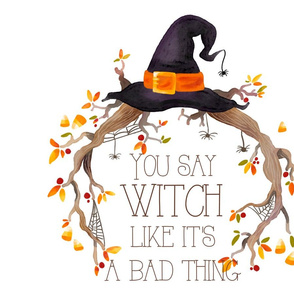FS You Say Witch Halloween Embroidery