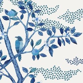 Blue Citrus Grove Toile