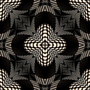 GIMP seamless surface dk R O highlights kaleidoscope lens from  checkerboard stripes spherized polar coordinates