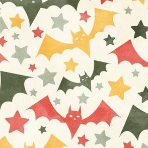 Halloween Bats and Stars