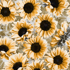 Dreamy Autumn Sunflowers