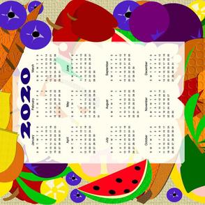 Fruits and Veggie Calendar3 spoonflower