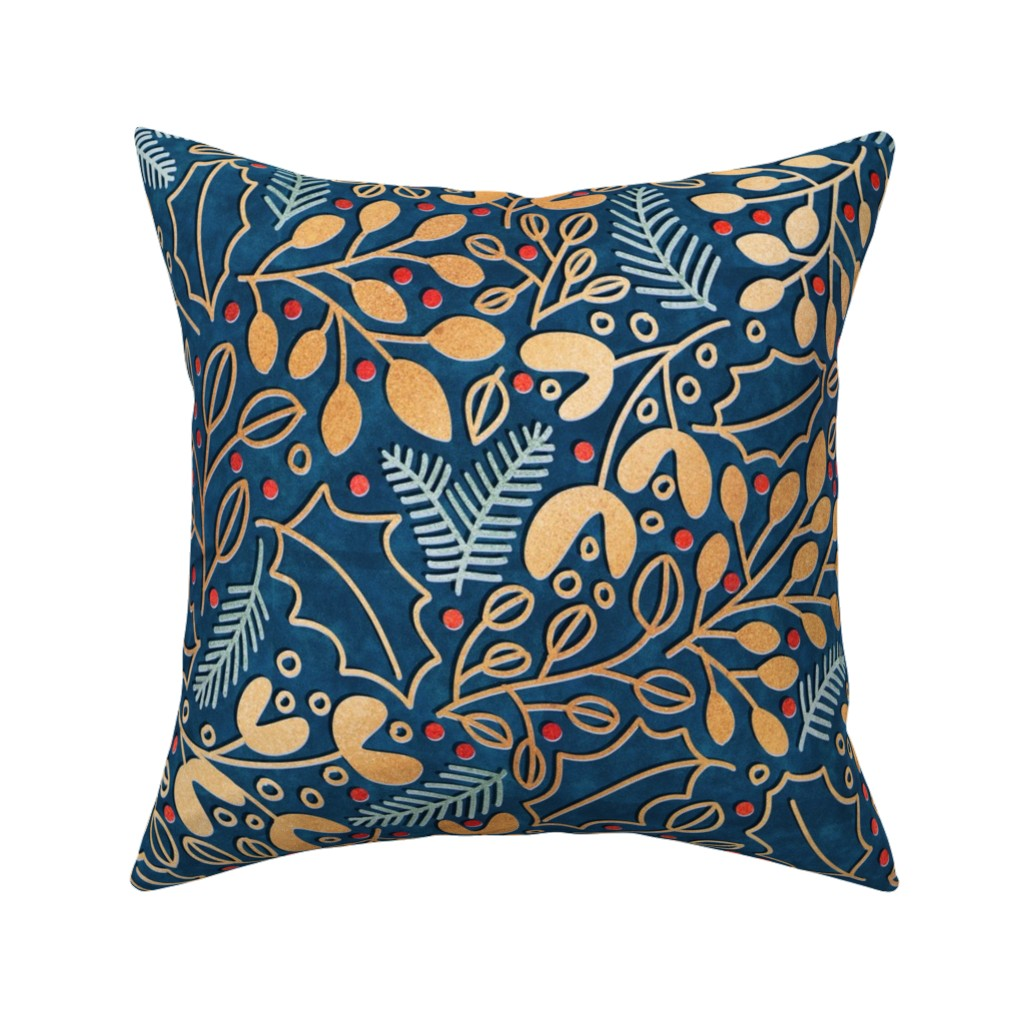 Catalan Throw Pillow featuring Winter Sparkle by abbilaura