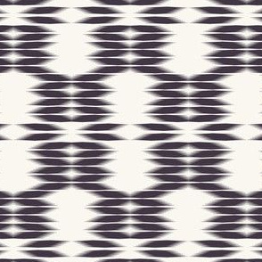 Seamless vector pattern. Modern geometric hand drawn woven ikat style.