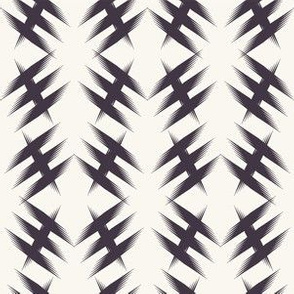 Seamless vector pattern. Modern geometric hand drawn criss cross shape.