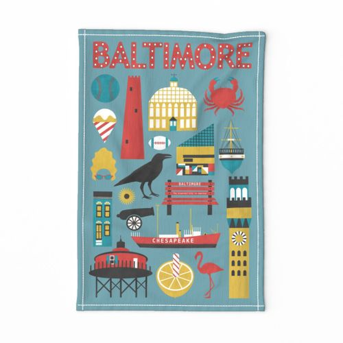 Celebrate Baltimore Tea Towel