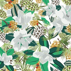 magnolias evergreen dreams white