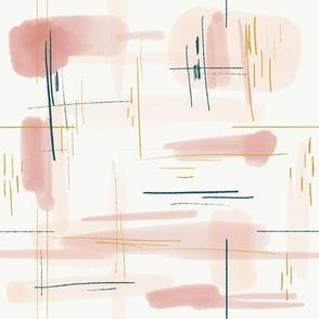 Modern Peach Abstract