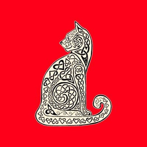 Celtic Cat 8 black red swatch