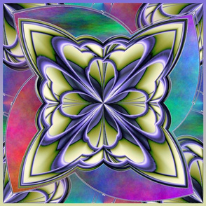 amazing circle art deco motif  18x18