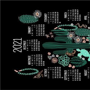 2021 Sonoran Landscape Tea Towel Calendar