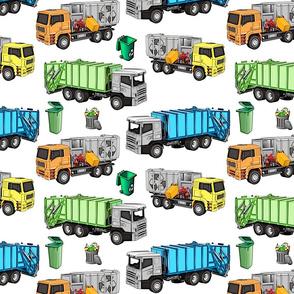 Garbage truck of fran6 white - Camion poubelle de fran6 blanc