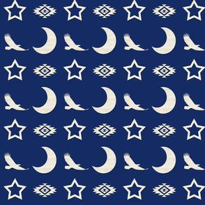 blue night square