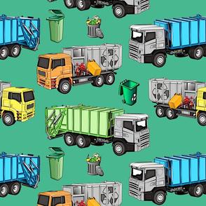 Garbage truck of fran6 Green (bigger) - Camion poubelle de fran6 Vert (plus grand)