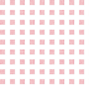 pink linen squares- 1 inch