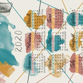 Hand  Lettering 2020 Watercolor Calendar
