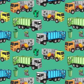 Garbage truck of fran6 Green - Camion poubelle de fran6 Vert