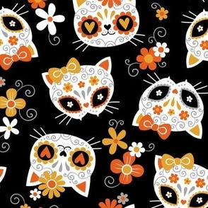 Cute Halloween Cats / Black