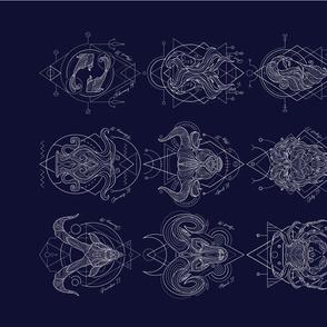 Zodiac Signs Teatowel